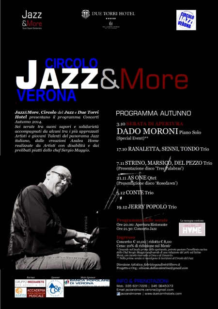 Locandina JAZZ & MORE Autumn 2014