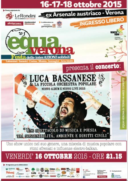 Luca Bassanese in concerto a Equa Verona!